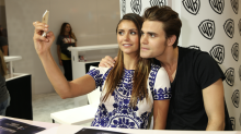 "Vampire Diaries' Nina Dobrev and Paul Wesley mock claims they ""despised each other"""