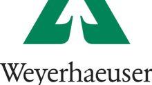 Weyerhaeuser announces tax treatment of 2018 distributions
