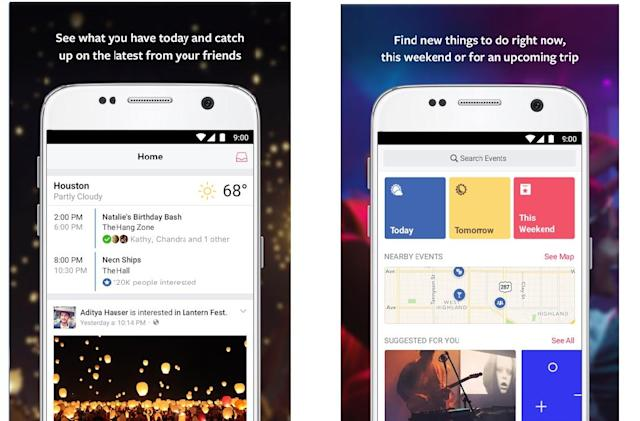 Facebook's standalone Events app arrives on Android at last