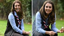 The Duchess of Cambridge pairs £5 earrings with trendy hiking boots to toast marshmallows with Scouts