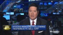 Stocks rebound following yesterday's sell-off