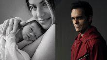 Ator de 'La Casa de Papel' celebra chegada do filho de Giovanna e Bruno