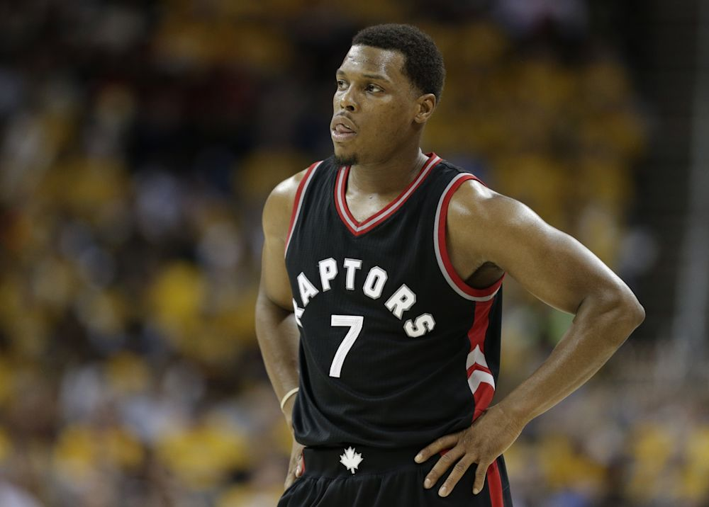Kyle Lowry played 60 games for the Raptors last season. (AP)