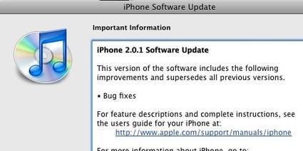 iPhone 2.0.1 firmware out for iPhone and iPod touch