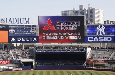 Yankees new Diamond Vision HD scoreboard unveiled