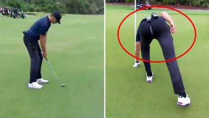 Tom Brady's hilarious gaffe after $100k golf shot