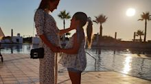 Paula Echevarría, blanco de las críticas por una foto con su hija durante sus vacaciones