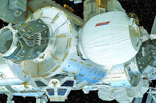 Watch NASA inflate the space station's expandable habitat