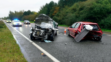 Panicking motorist caused head-on crash after being distracted by spider