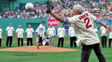 Red Sox fan throws an unforgettable first pitch