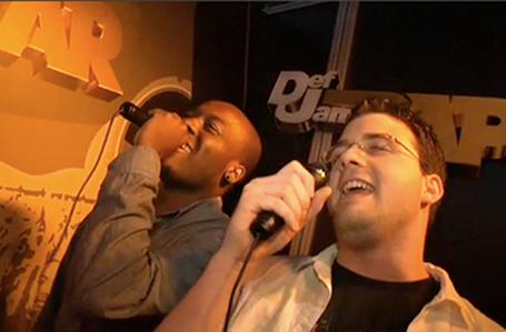 Def Jam Rapstar visited by surprise musical guest