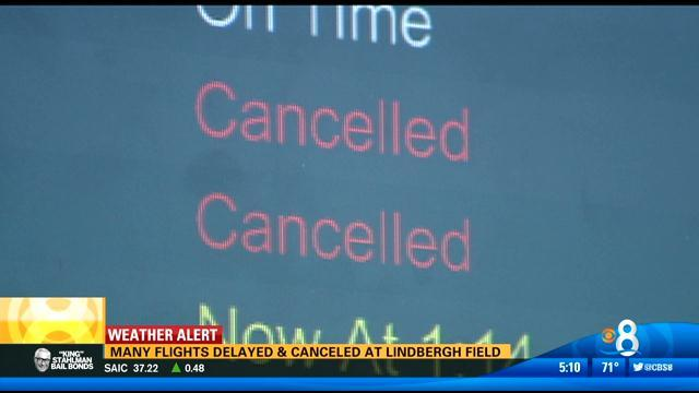 Severe East Coast storm causes delays, cancellations at Lindbergh Field