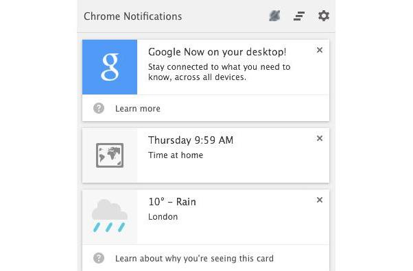 Google Now officially lands in Chrome