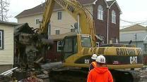 Demolition begins on homes damaged by Hurricane Sandy