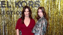 Catherine Zeta-Jones and daughter Carys go '70s retro at Michael Kors show