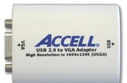 Accell introduces their USB 2.0 to VGA Adapter at CES