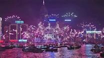 Thousands celebrate New Year in Hong Kong