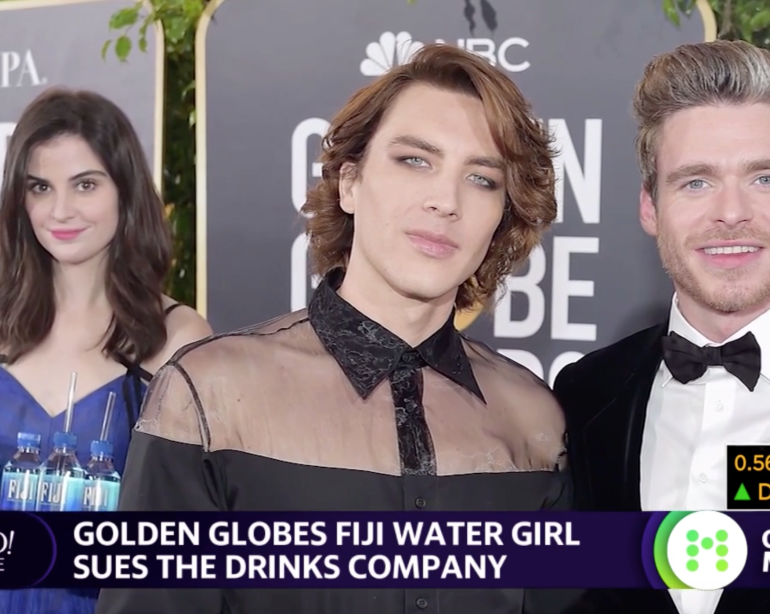 Golden Globes Fiji Water Girl Sues The Drink Company