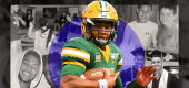 North Dakota State quarterback Trey Lance is one of the top NFL prospects for next year's draft. (Yahoo Sports illustration)