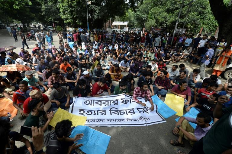 Protesters have called for the killers of a Bangladeshi student to be harshly punished