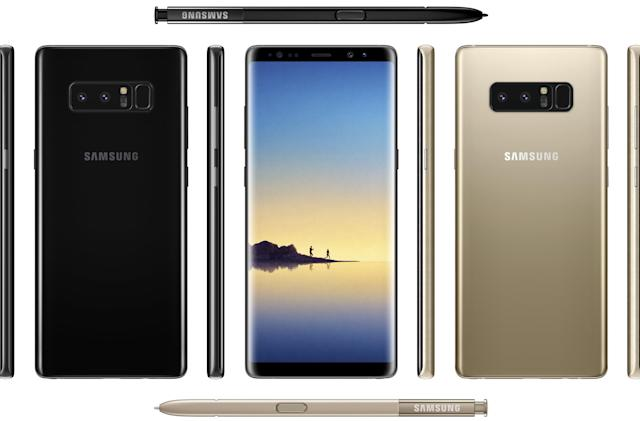 Take an early look at the Galaxy Note 8 in 'Midnight Black'