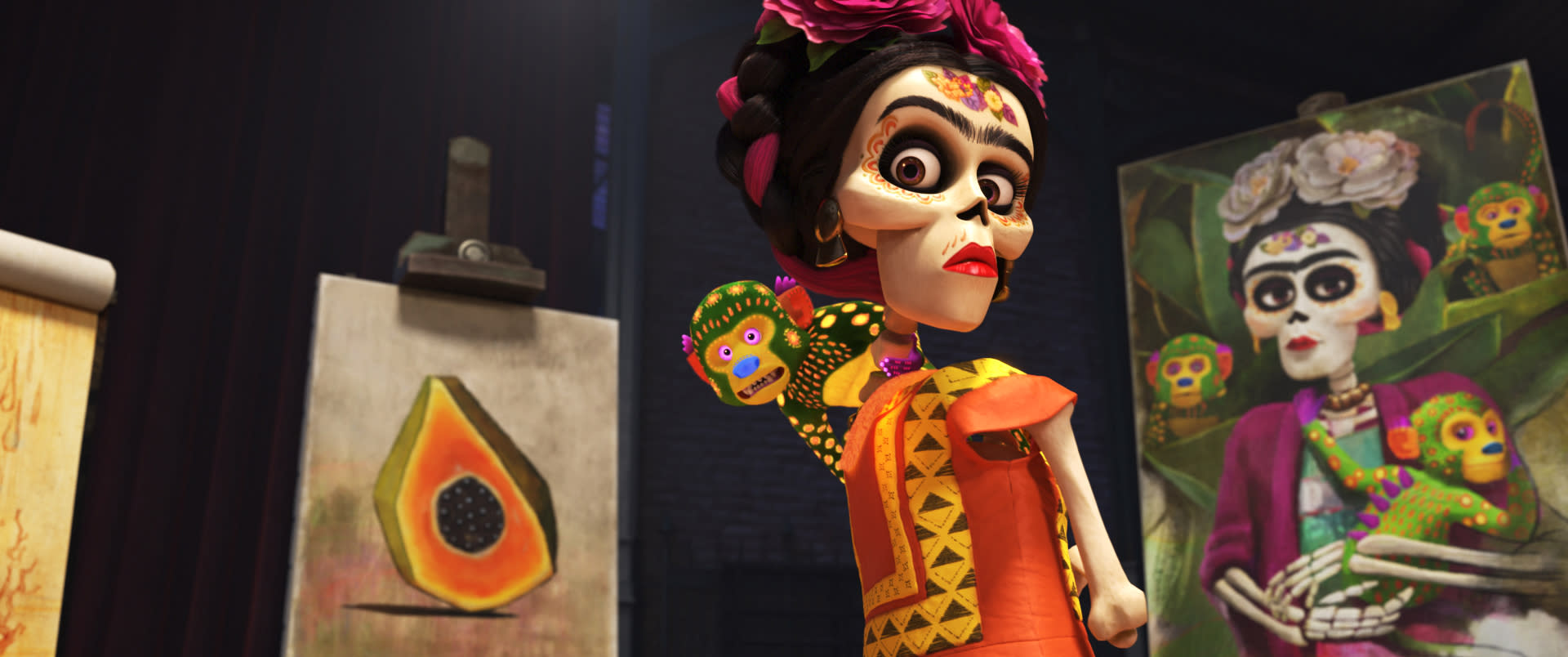 a review of frida a biopic about the famous mexican painter Frida kahlo: masterful biopic about disabled, communist mexican painter and her  critique of america culture, the sanctity of art, and marriage to cheating muralist.