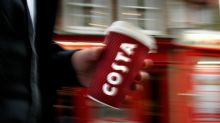 Shares in the owner of Costa Coffee are surging after a strong set of results