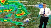 Severe storm moves into North Texas