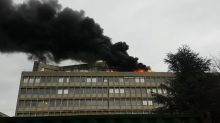 Smoke Billows From Fire at Lyon University Building
