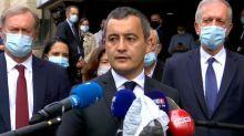 """Les deux policiers agressés dans le Val-d'Oise ont été """"massacrés"""", selon Gérald Darmanin"""