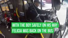 Milwaukee Bus Driver Helps Boy Get to School After He Falls Off Bike