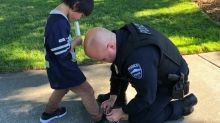 Two cops saw a boy running in torn socks. Then they did the sweetest thing.