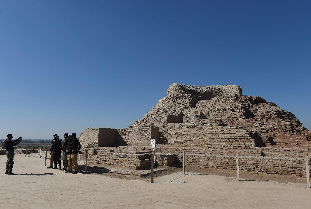 A Buddhist stupa at the UNESCO World Heritage archeological site of Mohenjo Daro in Pakistan, which experts believe was the centre of a the ancient, powerful Indus Valley civilisation (AFP Photo/ASIF HASSAN)