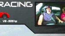 Woman hysterically screams throughout supercar ride