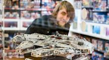 Star Wars fans flock to midnight launch of huge new LEGO Millennium Falcon