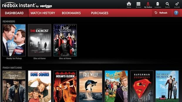 Redbox Instant's streaming video service shuts down on October 7th