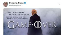 Trump celebrates Mueller report with another 'Game of Thrones' meme