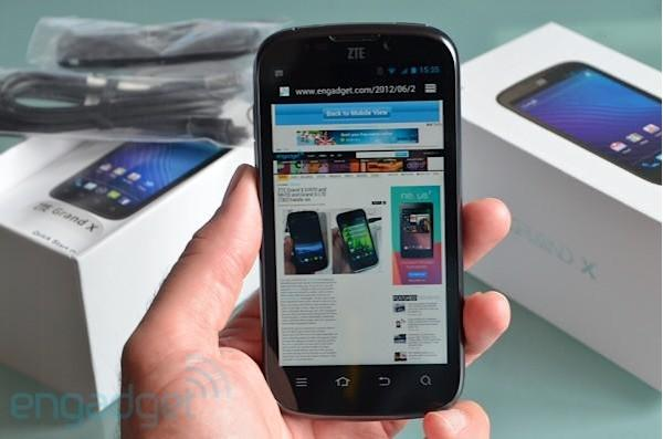 ZTE Grand X coming to UK for £190 pay-as-you-go: 4.3-inch qHD, microSD, stock Android 4.0