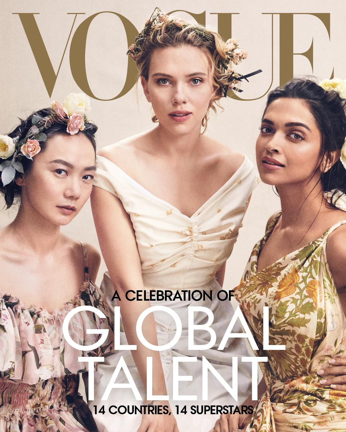Critics Slam Vogue S Global Talent Cover Starring Scarlett Johansson They Still Place The White Woman In The Center
