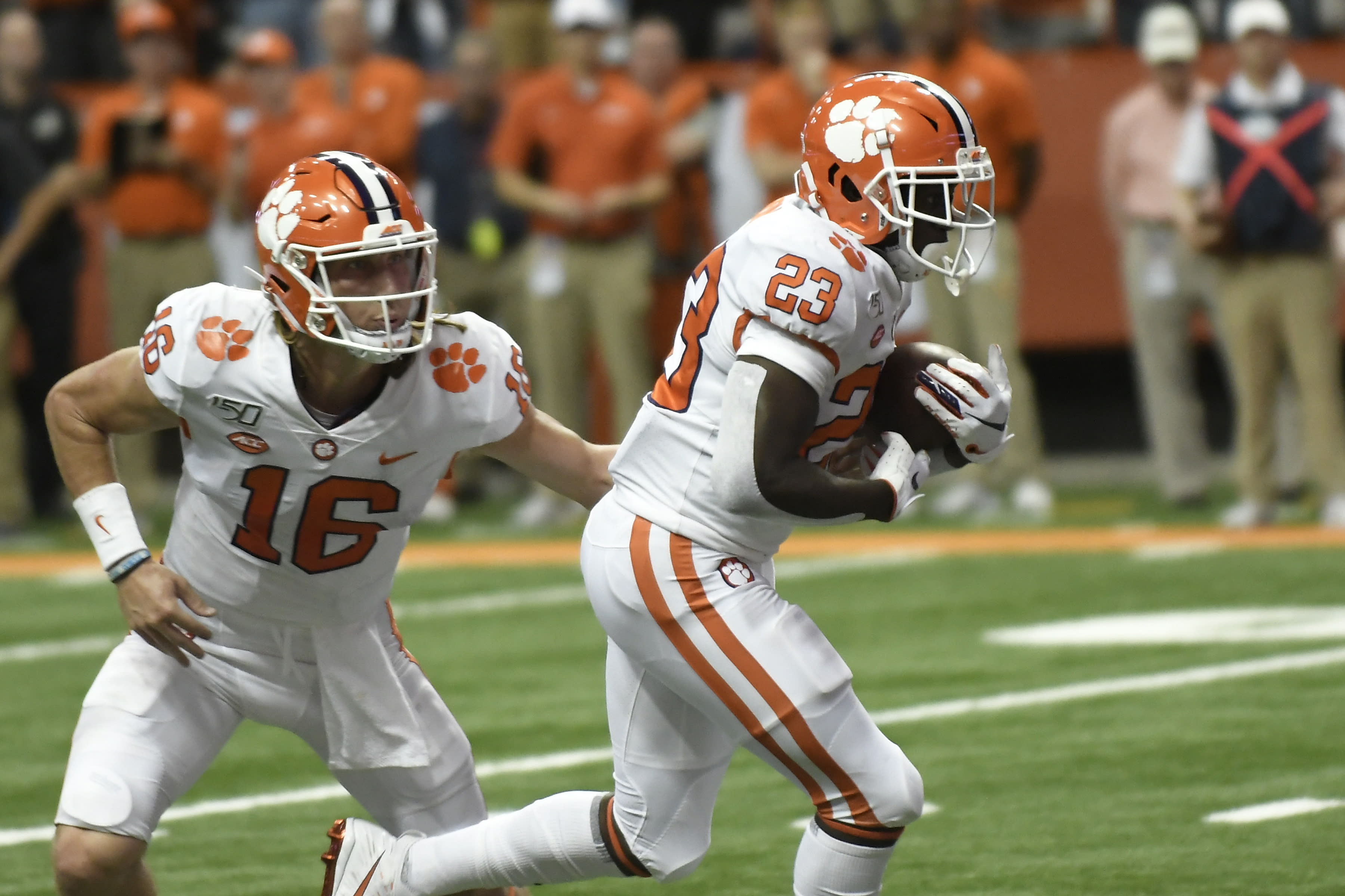 Lawrence leads No. 1 Clemson past Syracuse 41-6