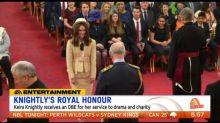 Keira Knightly receives Queen's honour