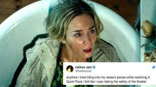 Everyone is terrified to eat popcorn during 'A Quiet Place'