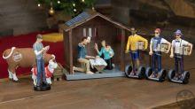 Presépio hipster mostra como seria o nascimento de Jesus nos dias atuais