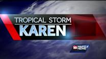 Coast prepares for Tropical Storm Karen