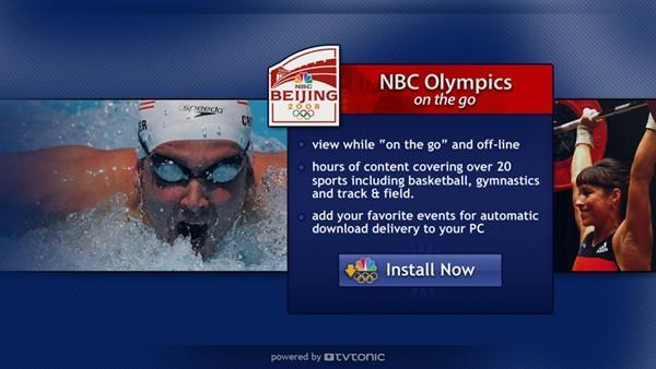 NBC Olympics on the Go brings the Games to Vista Media Center users