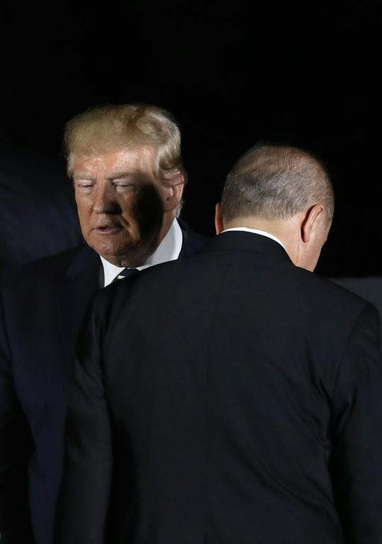 US President Donald Trump and Turkey's President Recep Tayyip Erdogan may no longer see eye-to-eye (AFP Photo/Dominique JACOVIDES)