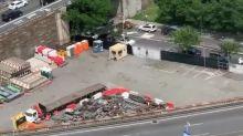 Long Line of Protesters Streams Across Brooklyn Bridge in New York