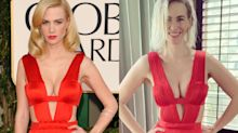 January Jones, 43, dons iconic eye-popping dress 10 years later