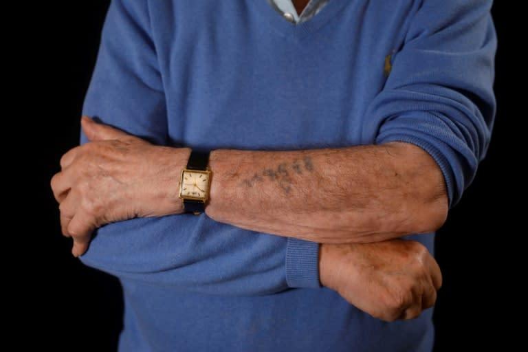 Szmul Icek's parents and sisters did not survive Auschwitz (AFP Photo/MENAHEM KAHANA)