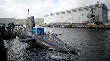 Royal Navy submarine in near-miss with a passenger ferry
